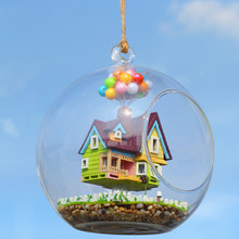 DIY Model Doll House Miniature Dollhouse With Furniture Glass Ball House For Dolls Casa Birthday Gift Toys For Children B006 #E(China)