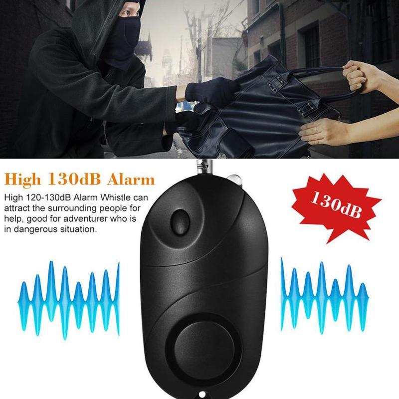 130DB Safe Sound Personal Alarm Self-defense Emergency Self Defense Security Alarm Keychain Led Flashlight For Women Elderly