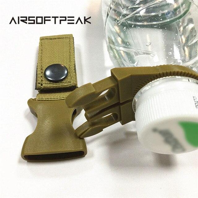 Nylon Molle Webbing Water Bottle Carabiner Belt Backpack Hanger Hook Outdoor Buckle Holder Clasp Tool Clip Hunting Accessories 2