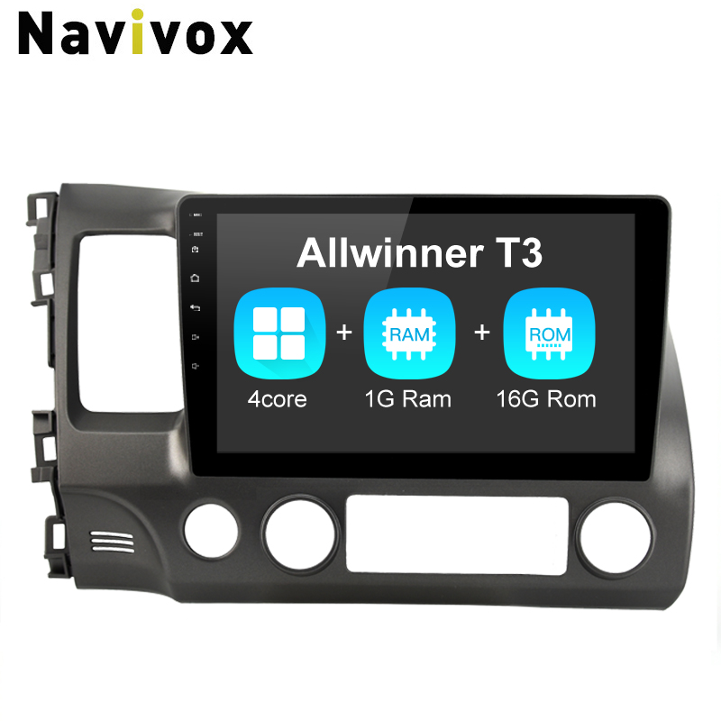Navivox Car GPS Navigation Player Android7.1 For Honda Civic 2006-2011 RDS/WIfi/BT/SWC/3G/4G HD1080P RAM 1G Rm 32G(no dvd ) navivox android7 1 8 1 universal gps navigation radio stereo audio player for nissan for hyundai rds swc bt wifi no dvd