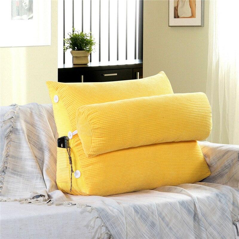 Canapé triangulaire coussins dossier lit épais velours côtelé salon oreillers dos soutien grande taille chaise oreiller Insert 60KD010