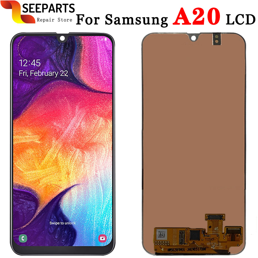 Original For Samsung Galaxy A20 LCD Digitizer A205/DS A205F A205FD A205A Display Digitizer Assembly For Samsung A20 Touch ScreenOriginal For Samsung Galaxy A20 LCD Digitizer A205/DS A205F A205FD A205A Display Digitizer Assembly For Samsung A20 Touch Screen