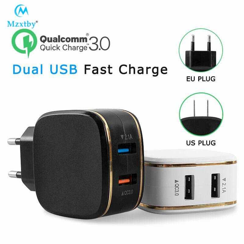 Mzxtby Quick Charge 5V4.5A EU US QC3.0 USB Turbo Wall Fast Travel Charger for SAMSUNG HUAWEI Zenfone 3 HTC 10 LG G5 For iPhone