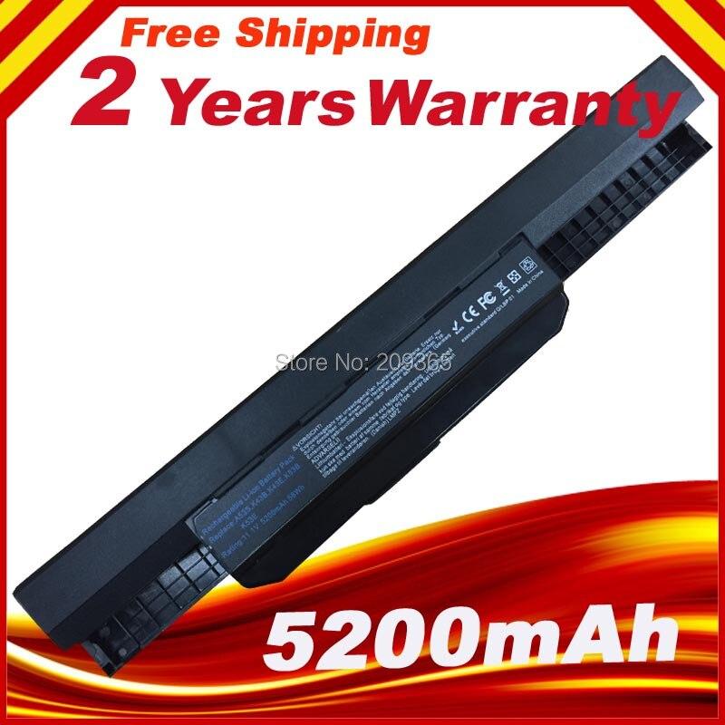 Nouvelle batterie d'ordinateur portable pour ASUS X54C X54H X54HY X54HR X54L X54LY Ordinateur Portable A41-K53 A32-K53 6 cellules K53
