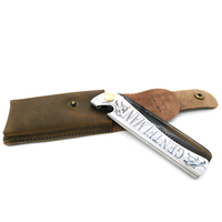 T 27 Can Be Use As A Bottle Opener Brown Acetate Teeth With Silver Stainless Steel Handle Folding Comb With Leather Bag