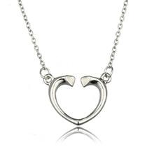 2016 женщин просто открытое в форме сердца подвески и ожерелья серебряное в форме сердца ключицы цепи ювелирные изделия подарок для любителя