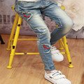 2017 New Style Kids Jeans Girls Trousers Spring&Autumn Fashion Designer Children Denim Pants Casual Patch Jeans For 2-10 Years
