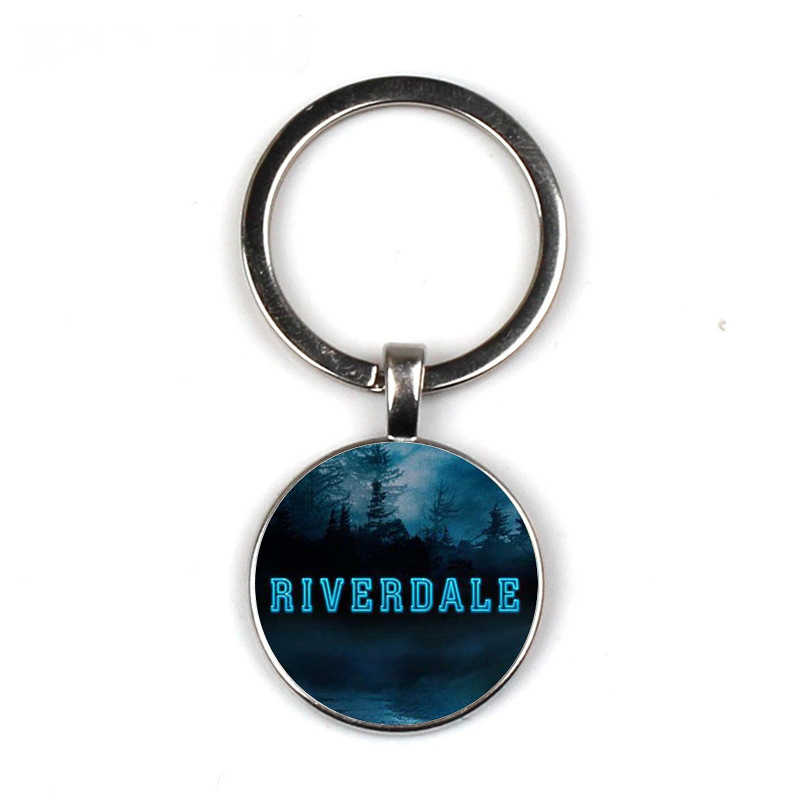 American TV Riverdale Keychain Viper Pattern Glass Cabochon Charm Key Chain Ring Key Holder Bag Car Accessories Fans Gift