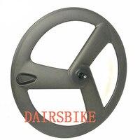Free Shipping Carbon 3 Spoke Wheel 700c Fixed Gear Tri Spoke Carbon Wheels 3k 12k 23mm