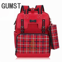 GUMST New 2019 High Quality 16 inch Cushion Backpacks For Girls Students School Bags Primary For Girls Kid Bag For School Girl(China)