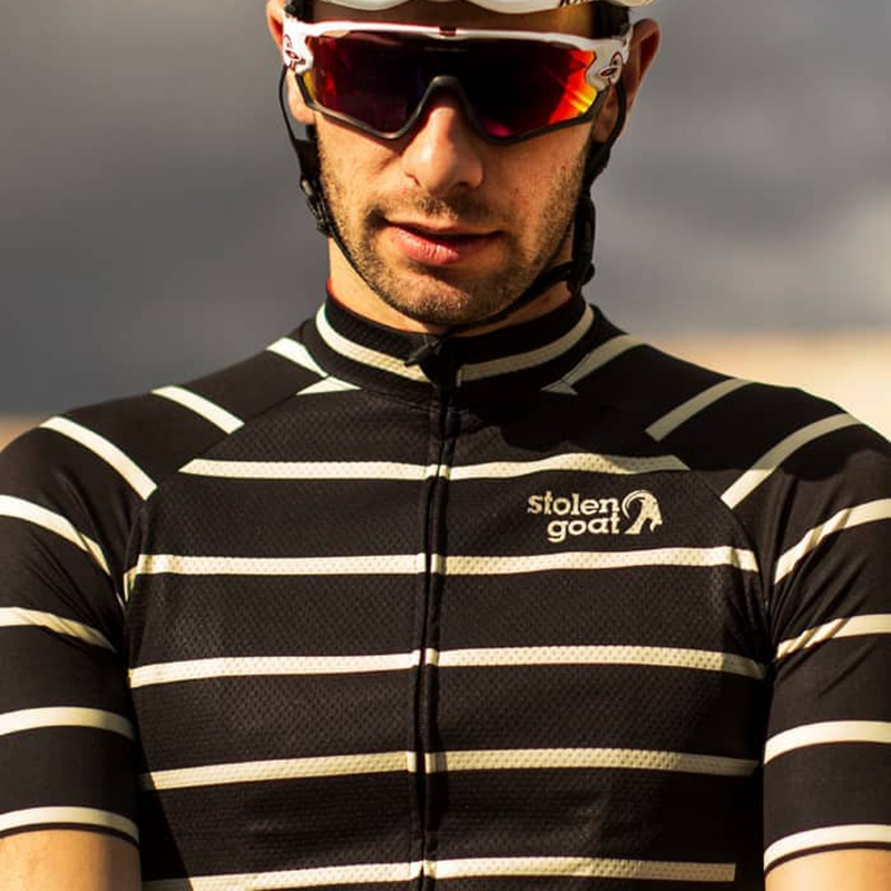 Stolen Goat Striped Cycling Jersey Short Sleeve Bicycle Clothing Summer Line Pattern Maillot Homme Quick Dry T Shirt Road Bike