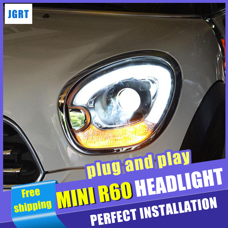 2007-2016 Car Styling HEAD LAMP for For BMW MINI Cooper Countryman R60 Headlights XENON Lens Projector turn signal LED DRL велосипед electra countryman 2016
