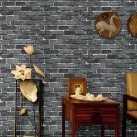 Modern Vintage Deep Embossed 3D Brick Stone Pattern Wallpaper For Walls Living Room Kitchen Waterproof Wallpaper