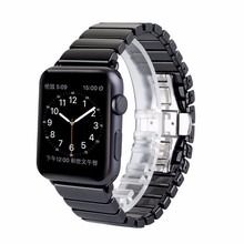 New High quality Black White Glossy Ceramic Watch Band Strap for Apple Watch iwatch 38mm 42mm