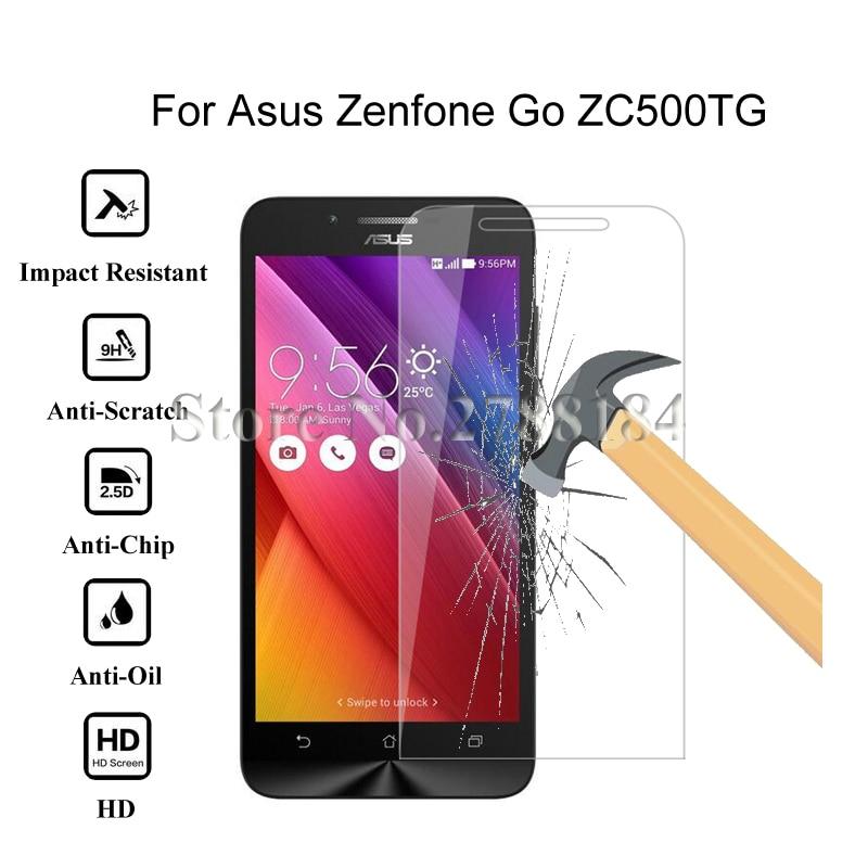 2.5D 0.26 мм 9 H Премиум Закаленное стекло для Asus Zenfone Go ZC500TG 5.0 дюймов Экран протектор Закаленное защитная пленка стекло