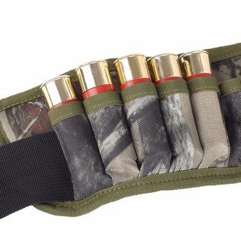 Military 28 Round Tactical Shotgun Shell Buckle Belt Holder Waist 12GA Ammo Pouch Camo Bullet Strap with Inner Zipper Pocket 5
