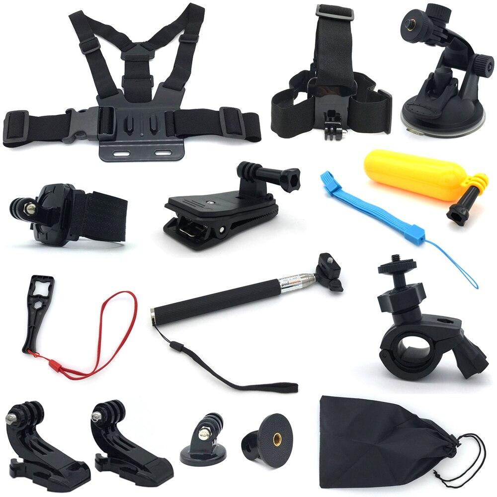 Pour Go Pro hero7 6 5 4 accessoires Kit gopro 7 Session SJCAM Action Sport caméra Kit d'outils trépied montage bâton