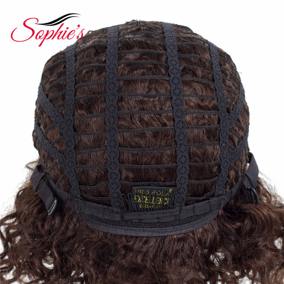 Sophie's Short Human Hair Parykker For Sorte Kvinder 100% Human Hair - Skønhed forsyning - Foto 6