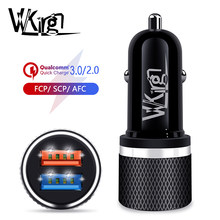 VVKing 30W Car Quick charger 3.0/2.0 2 USB Fast Charge For iPhone Samsung Huawei Xiaomi One plus SCP/FCP/AFC QC3.0 Fast Charging(China)