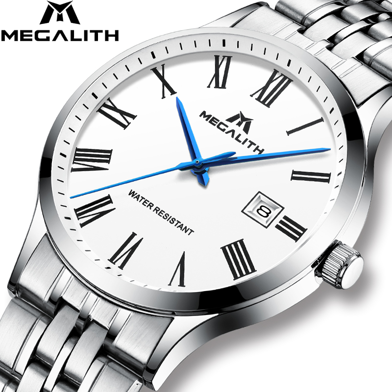 Men Watch MEGALITH Top Brand Quartz Wrist