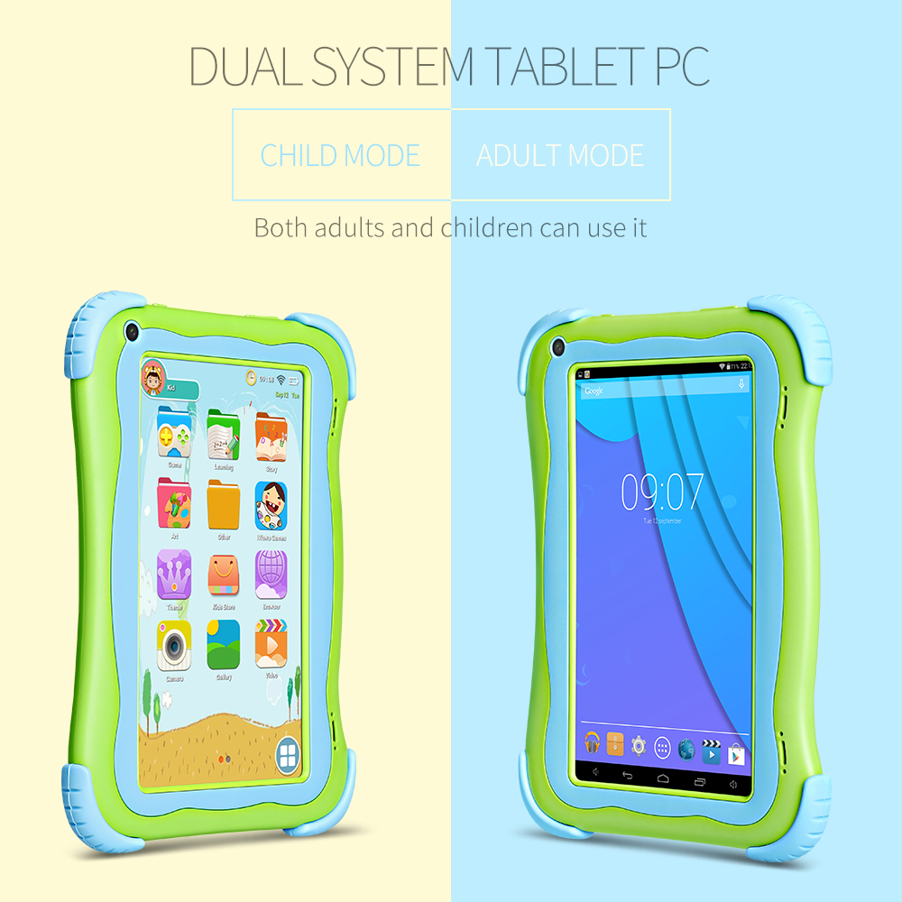 CHAUD! CHAUD! CHAUD! Yuntab 7 pouces Q91 Android 5.1 enfants tablette PC 1 GB + 16 GB Allwinner A33 Quad Core tablette double caméra 2800 mAh
