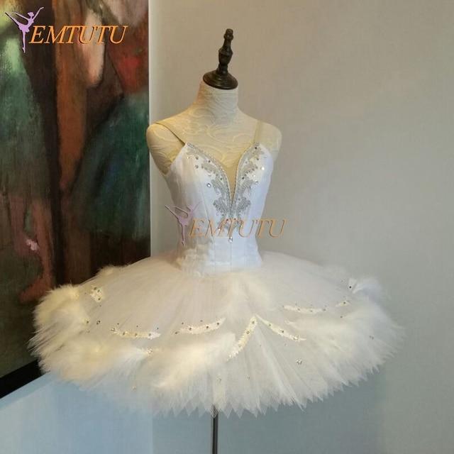 f5ac861c1 Women White Swan Lake Professional Ballet Tutus White Feather Professional Tutus  Odette Classical Ballet Tutu Dress