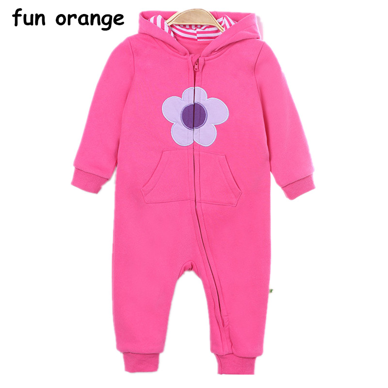 Fun Orange  Hooded Baby Rompers Boys Girls Clothes Newborn Clothing Jumpsuit Infant Costume Baby Outfit baby clothing summer infant newborn baby romper short sleeve girl boys jumpsuit new born baby clothes