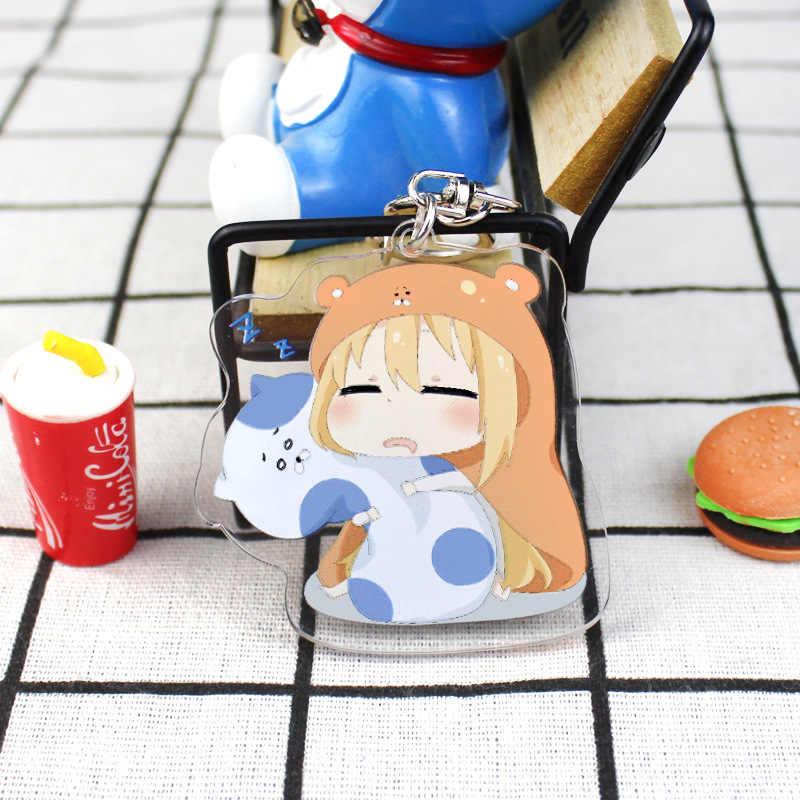 Anime Himouto Umaru chan Cosplay anahtarlık japon karikatür Himouto Doma Umaru akrilik araba anahtarlık zinciri kolye anahtarlıklar