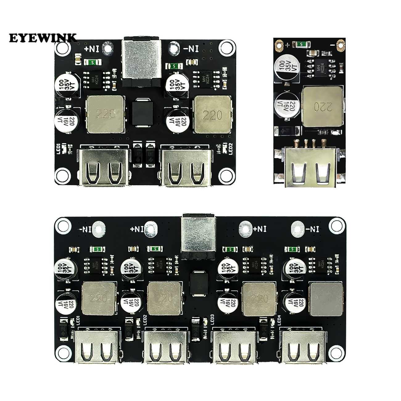 USB QC3.0 QC2.0 USB DC-DC Buck convertisseur charge abaisseur Module 6-32V 9V 12V 24V à chargeur rapide carte 5V