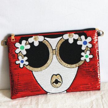 Women's new Bright Character clutch Bag