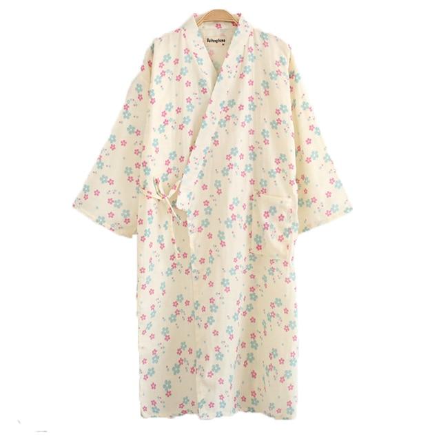 2018 new bath robe dressing gown unisex men women full sleeve ...