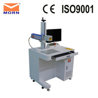 20 watt laser power MAX laser source fiber laser metal marking machine + computer Ezad software