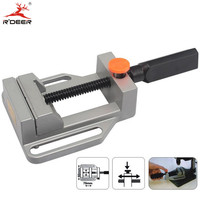 RDEER Mini Vice Work Table Vise Bench Vise Table Clamp Jaw 70mm Aluminium Alloy Drill Press Vise