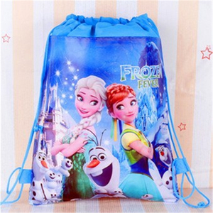 Disney princess children cartoon bag storage girl boy gift packet Frozen Elsa Swimming package cosmetic toy doll Drawstring(China)