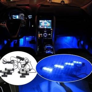 POSSBAY Blue LED Car Interior
