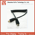 Free shipping New!!Flexible and stretch hdmi male to mini hdmi male Cable with hdmi to hdmi cable adapter black color wholesale