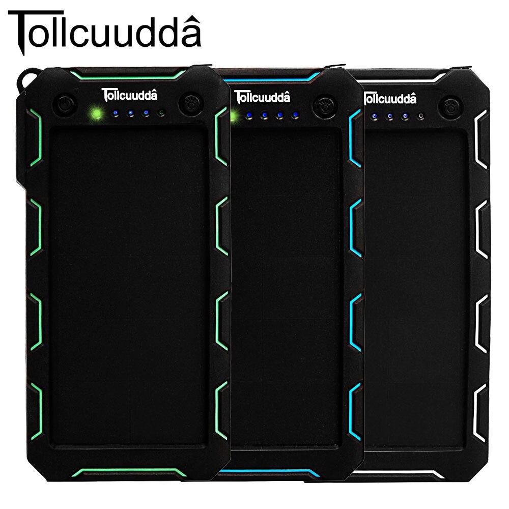 imágenes para Original Tollcuudda Cámara Del Teléfono 13000 mAh Banco de la Energía Solar Portátil Cargador Poverbank para Xiaomi para el iphone 8 de la batería powerbank