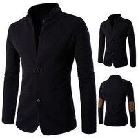 Male Clothes Black Color Coat Men Spring Winter Jacket For Singer Dancer Performance Prom Dress Show