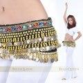 Egipcio de Perlas Lentejuelas Rhinestone Danza Del Vientre Cinturón de Monedas para Las Mujeres Cadenas en La Cintura de La Cadera de Baile Trajes de Danza Del Vientre Indio Desgaste de la Danza