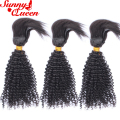 New Arrival Braid-In Bundles 3Pcs 8A Brazilian Kinky Curly Virgin Hair 100% Human Hair Braided Directly Into Your Natural Hair