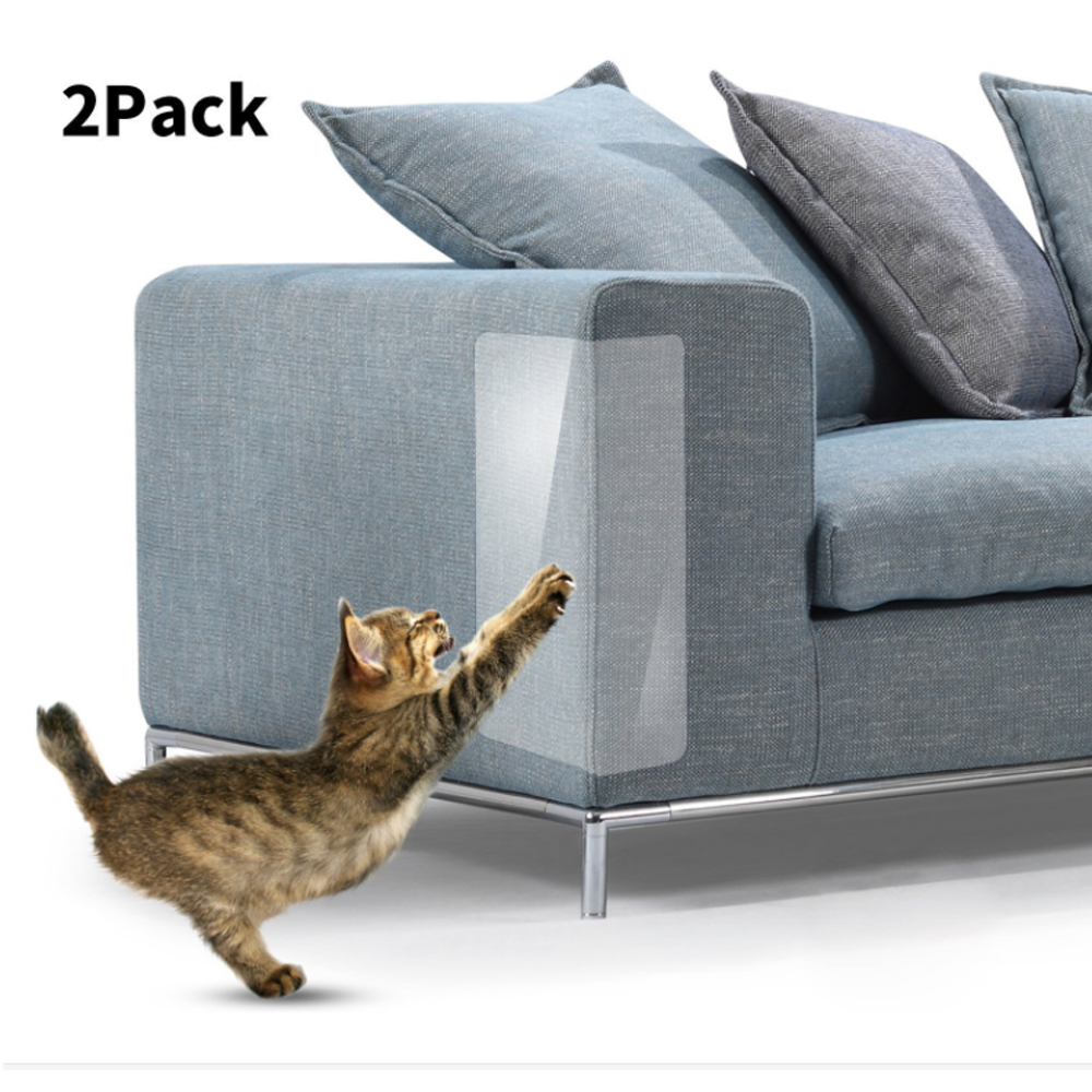 Didihou 2pcs/set Cat Scratch Guards Flexible Kitten Cat Tree Sofa Furnitures Cats Scratching Post Protect Pads Paw Clawing Care