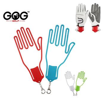 Rękawice golfowe nosze sprzęt do gry w golfa plastikowe rękawice golfowe uchwyt Rack suszarka wieszak nosze z paskiem tanie i dobre opinie D1PJ044 Golf Gloves Stretcher Golf Gloves Holder 1 pcs golf glove holder