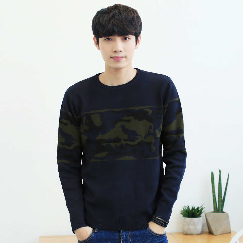 Men's Sweater Pullover Knitted O-Neck Long-Sleeve Male Autumn Winter Casual Fashion Warm