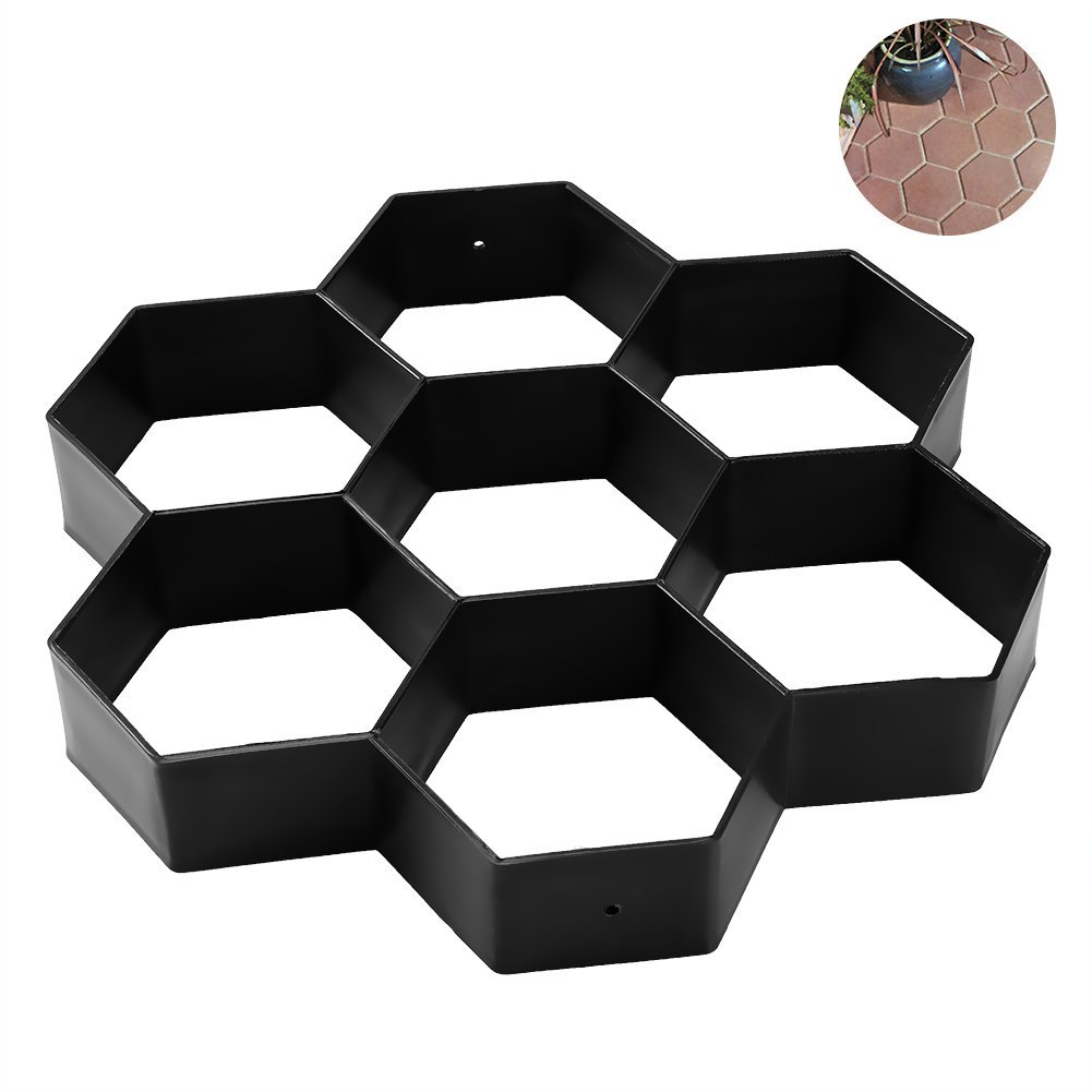 Hot Sale DIY Patio Walk Maker Stepping Stone Concrete Paver Mold Reusable Path Maker Mold Garden Paving Stone Molds 30*30cm ...