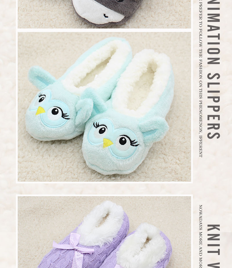 cartoon cute 18 Indoor Home Slippers Warm Soft Plush slippers Comfortable Indoor Fur Slippers Striped Cute Women Shoes 9