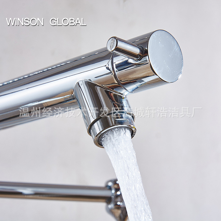 kitchen water tap faucet polished spring pull out cocina sink pot ...