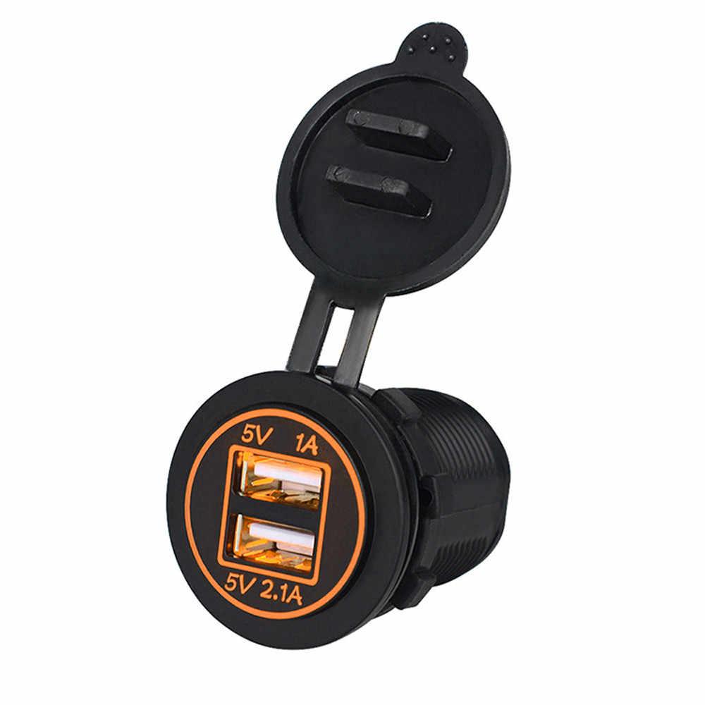 Usb duplo porta dupla carregador de carro carregador rápido universal carregador de carro móvel adaptador para o telefone móvel preto