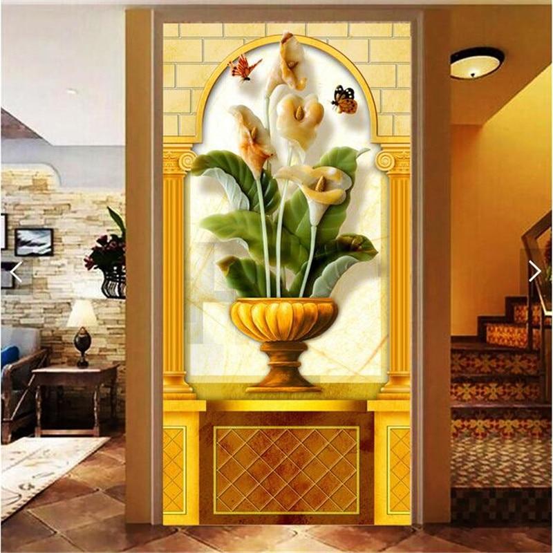 wall paper 3d art mural Continental HD Tarot classic vase covering ...