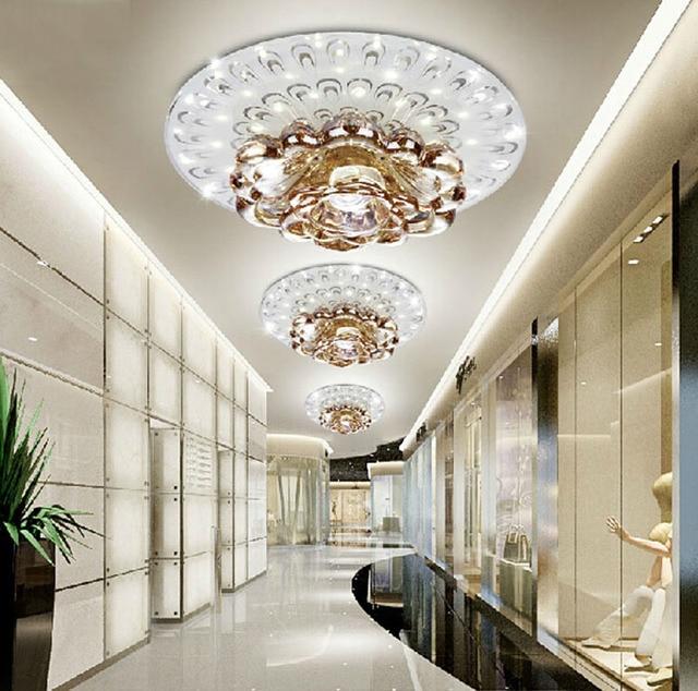 Kreative Led Kristall Decken Lampe Fur Flur Wohnzimmer Schlafzimmer