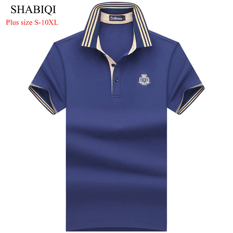 2018 Summer Classic Brand Men shirt Men   Polo   Shirt Short Sleeve   Polos   Shirt T Designer   Polo   Shirt Plus Size 6XL 7XL 8XL 9XL 10XL